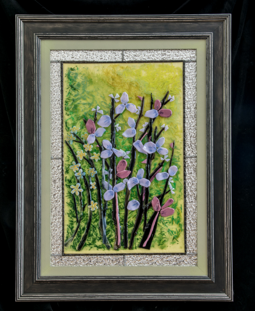 Flowers with Silver Frame